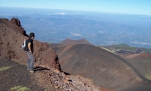 sizily on the top of Etna Volcano